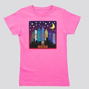 Atlanta Skyline mega color Girl's Tee