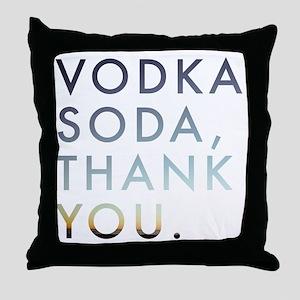 voda soda, thank you Throw Pillow
