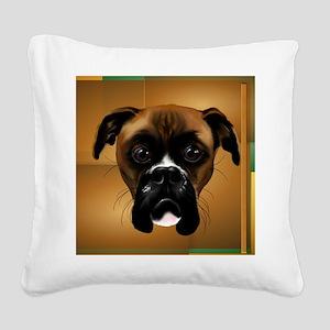 Handsom Boxer-5000 Square Canvas Pillow