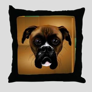 Handsom Boxer-5000 Throw Pillow