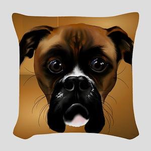 Handsom Boxer-5000 Woven Throw Pillow