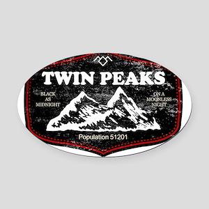 Twin Peaks Oval Car Magnet