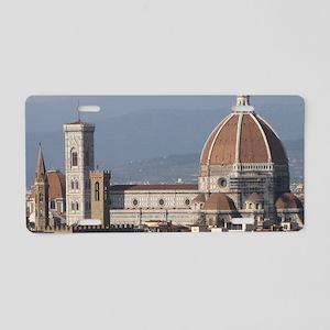 Florence Duomo Aluminum License Plate