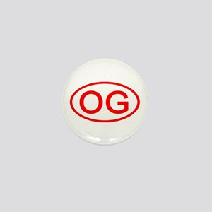 OG Oval (Red) Mini Button