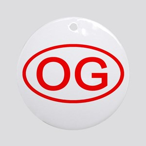 OG Oval (Red) Ornament (Round)