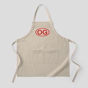 OG Oval (Red) BBQ Apron
