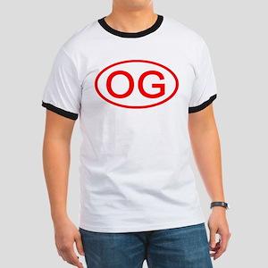 OG Oval (Red) Ringer T