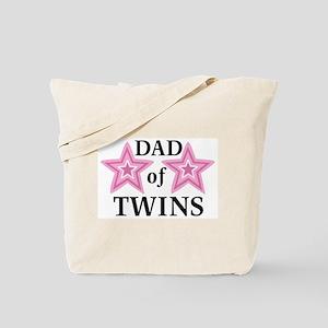 Dad of Twins (Girls) Tote Bag