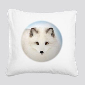 Cute Arctic Fox Square Canvas Pillow