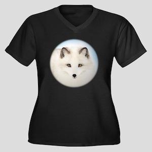Cute Arctic  Women's Plus Size Dark V-Neck T-Shirt