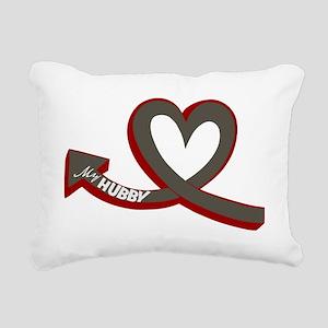 MY HUBBY Rectangular Canvas Pillow