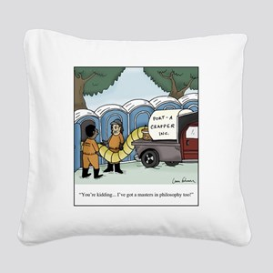 Masters in Philosophy Square Canvas Pillow
