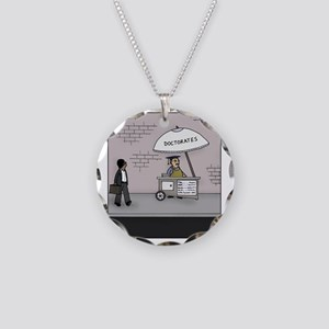 Doctorate Stand Necklace Circle Charm