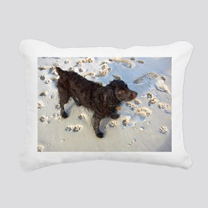 Scully with Pawprints Rectangular Canvas Pillow