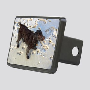 Scully with Pawprints Rectangular Hitch Cover