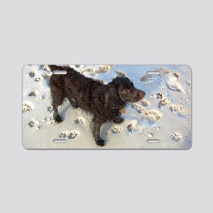 Scully with Pawprints Aluminum License Plate