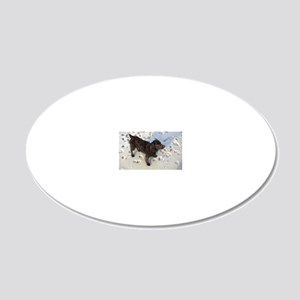 Scully with Pawprints 20x12 Oval Wall Decal