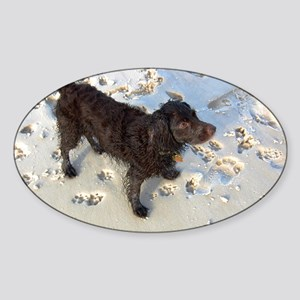 Scully with Pawprints Sticker (Oval)