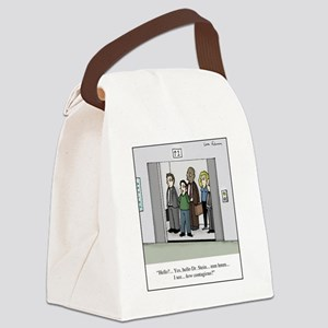 How Contagious? Canvas Lunch Bag