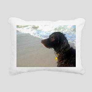 Scully Beach Profile Rectangular Canvas Pillow