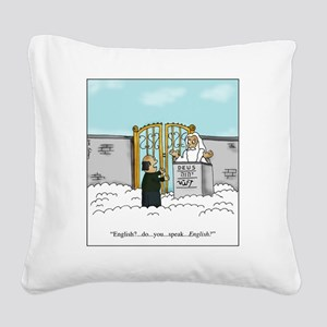 English? Square Canvas Pillow
