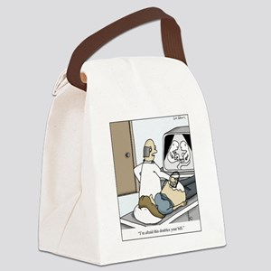 Ultrasound Twins Canvas Lunch Bag