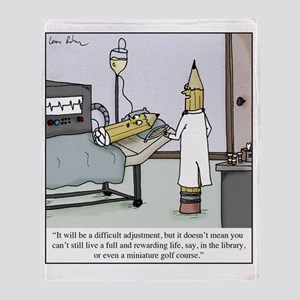 Pencil Amputation Throw Blanket