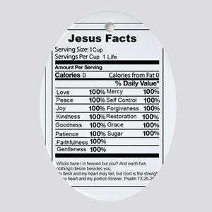Jsus Facts Oval Ornament