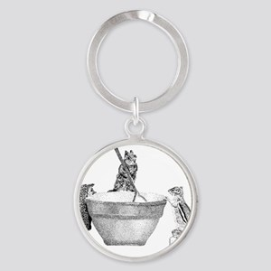 Mixing bowl Round Keychain