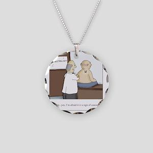 Dermastrologist Necklace Circle Charm