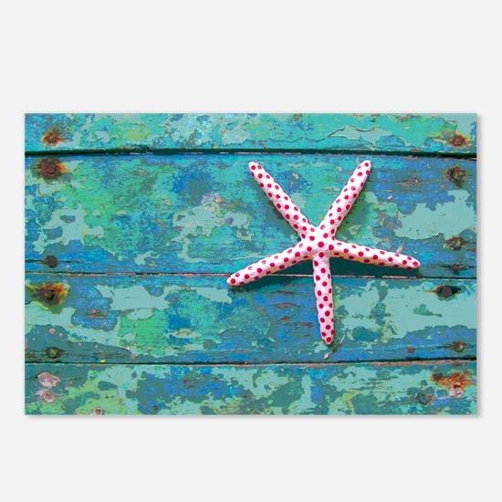 Starfish and Turquoise Ru Postcards (Package of 8)