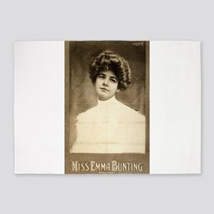 Miss Emma Bunting - US LItho - 1903 5'x7'Area Rug