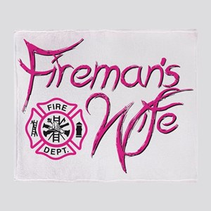 Firemans Wife Throw Blanket