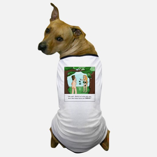 Eve Finds a Leaf Bra Dog T-Shirt