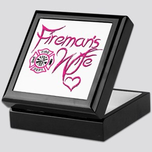 Firemans Wife Design Keepsake Box