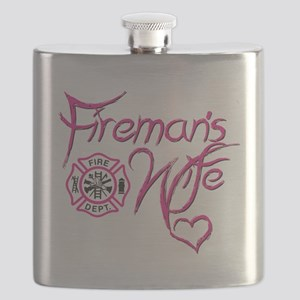 Firemans Wife Design Flask