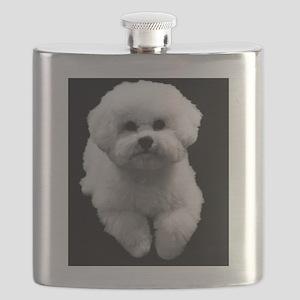 Beau the Beautiful Bichon Flask