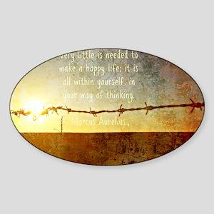 Marcus Aurelius Poster Sticker (Oval)