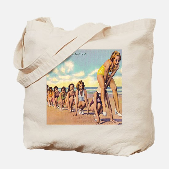 Vintage Carolina Beach Beauties Tote Bag