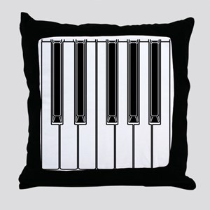 piano shower curtain Throw Pillow