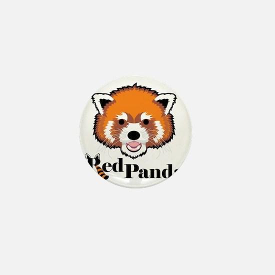 Red Panda Mini Button