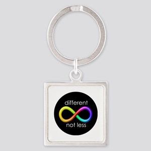 Different, Not Less Square Keychain