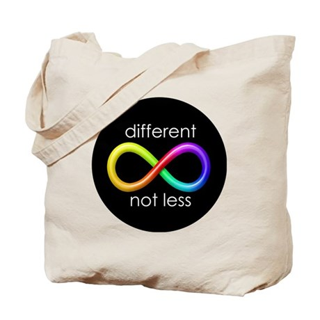 Different, Not Less Tote Bag