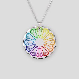 Lacrosse Spectrum Necklace Circle Charm