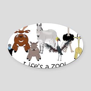 Denver Zoo light Oval Car Magnet
