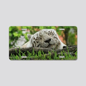 Sleeping Beauty/Bengal Whit Aluminum License Plate