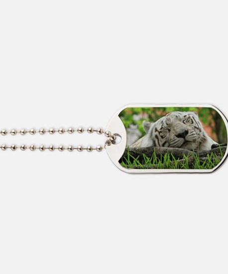 Sleeping Beauty/Bengal White Tiger Dog Tags