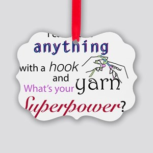 Super cocheter Picture Ornament