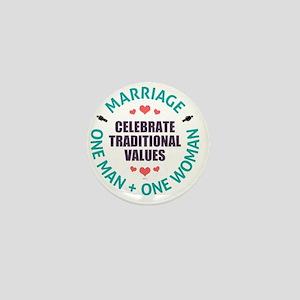 Celebrate Traditional Values Mini Button