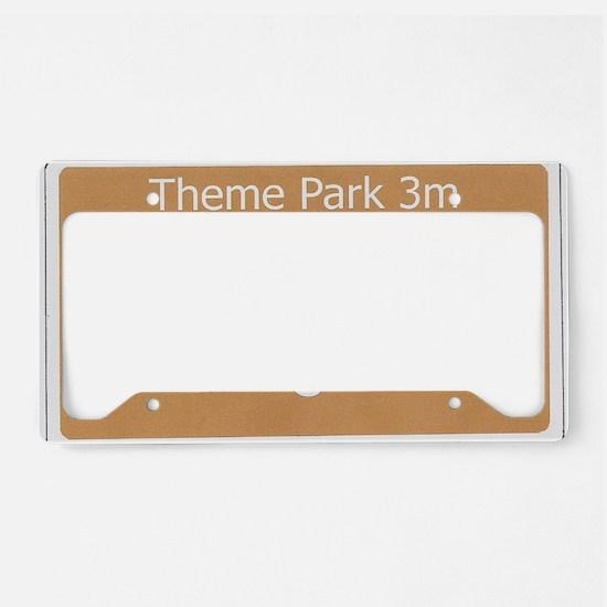 Theme Park License Plate Holder